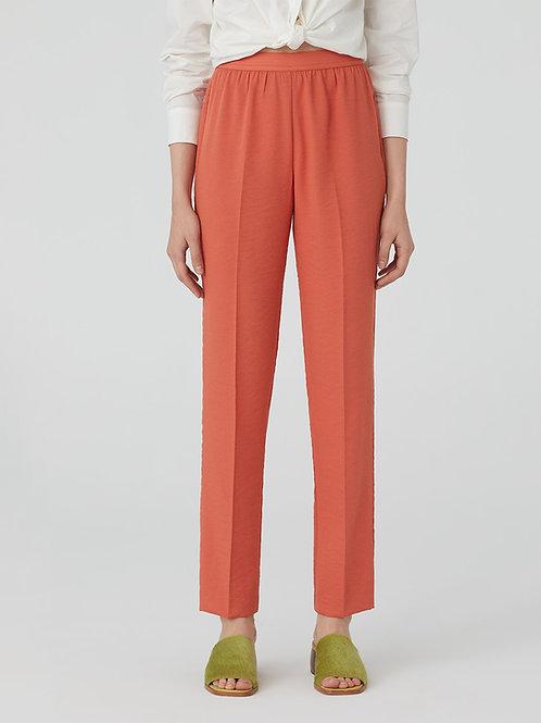 Nice Things - Pantalon large et fluide en crêpe mélangé Corail