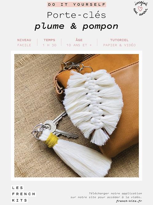 DIY - Porte clés - Plume & Pompon