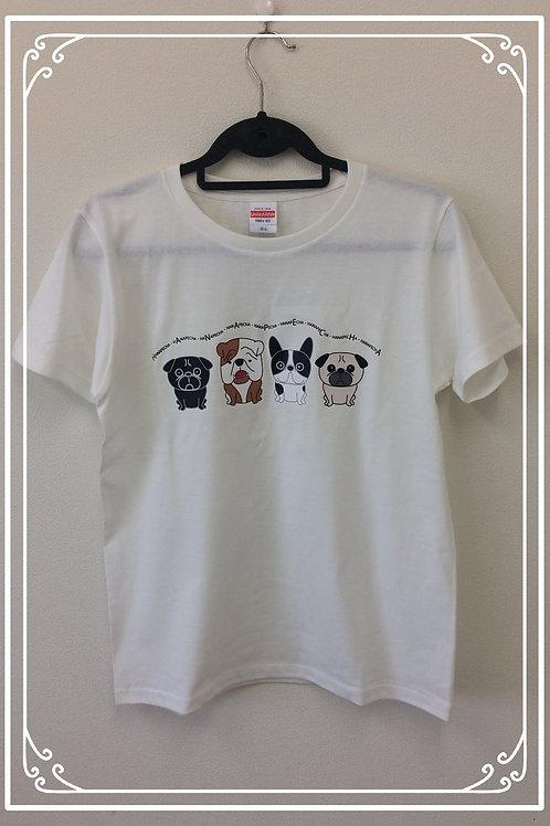 HanapechaTシャツ バニラホワイト②
