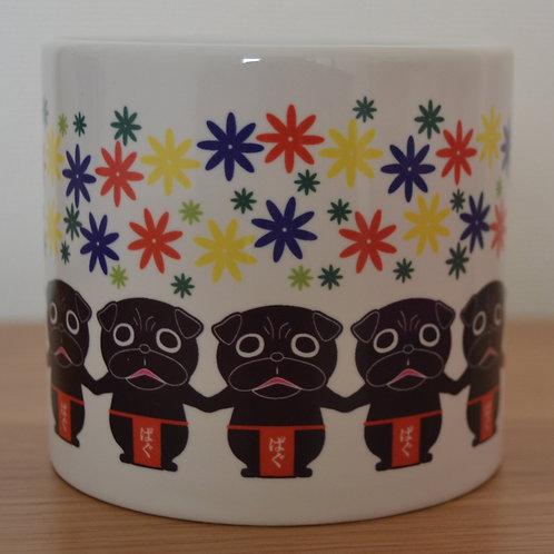 黒パグマグカップ