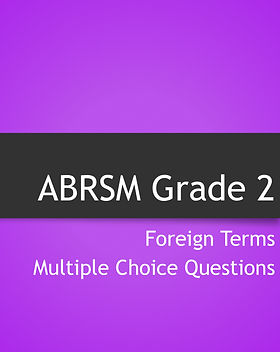 Grade 2 theory foreign terms