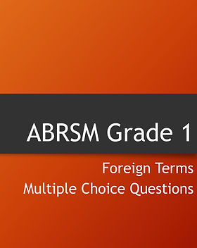 Grade 1 theory foreign terms