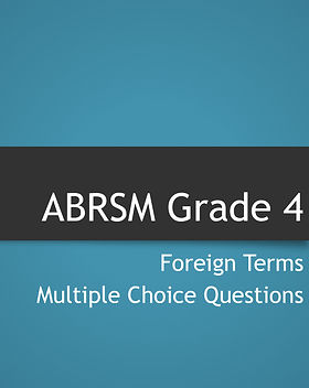 Grade 4 theory foreign terms