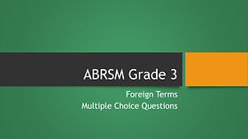Grade 3 theory foreign terms