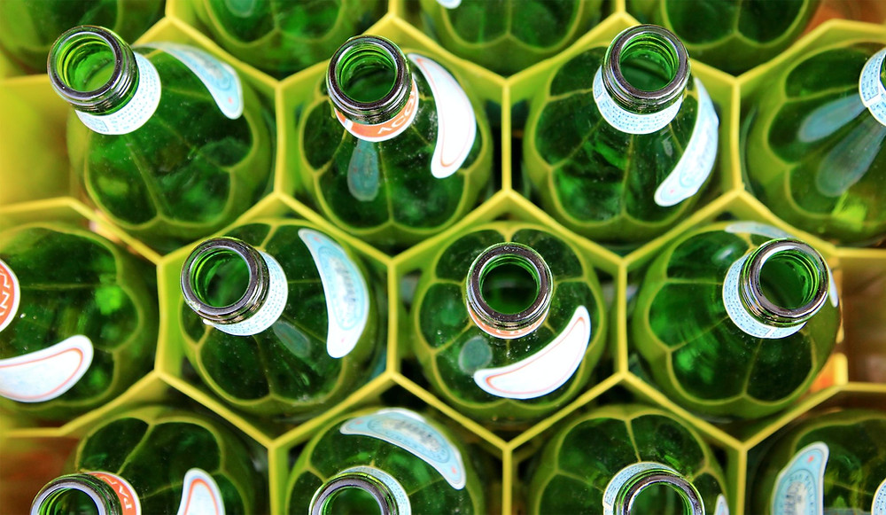 Recycled soda bottles
