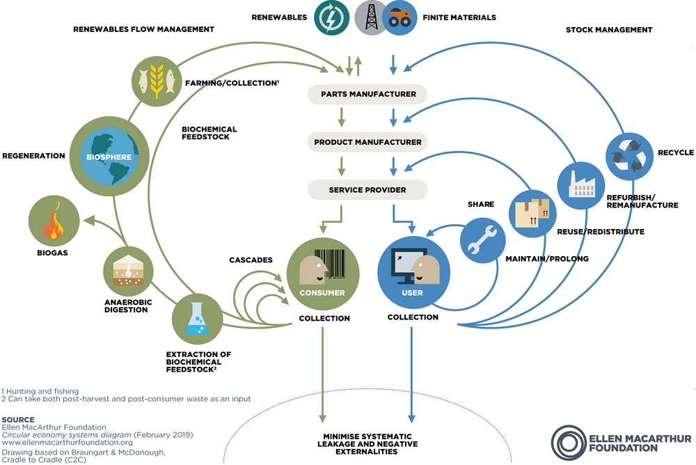 circular economy butterfly diagram