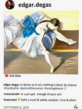 2019 Edgar's resting dancer 24x18 Lauren