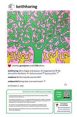 Keith Haring Tree of Life Summit Public Art Laurence de Valmy