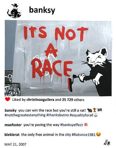 2020 Bansky is not racing 14x11 .jpg