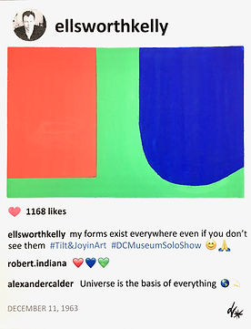 2018 Ellsworth Kelly Red Blue Green 14x1