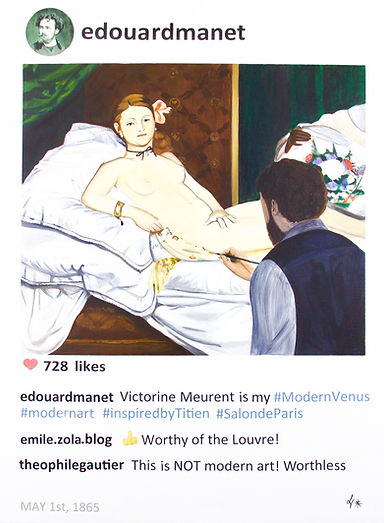 Edouard Manet in POST series by Laurence de Valmy