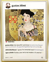 Making of paintint Klimt by Laurence de Valmy
