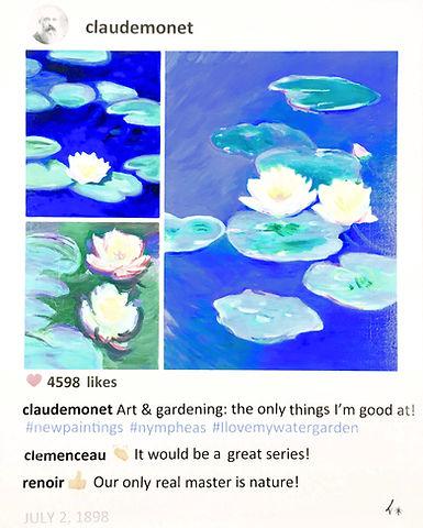 Claude Monet water lillies Laurence de Valmy