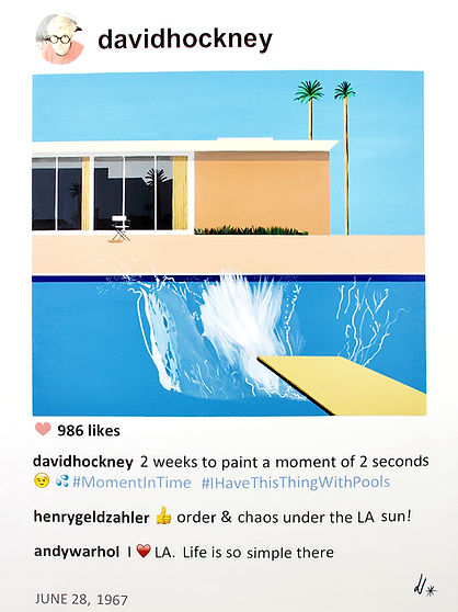 David Hockney A bigger splash in POST series by Laurence de Valmy