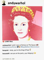 Andy warhol Reigning queens Laurence de Valmy