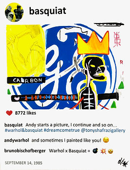 2019 Basquiat and Warhol14x11 Laurence d