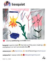 2020 Basquiat paints like a child 14x11