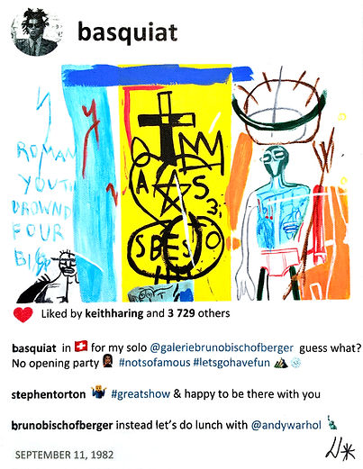2020 Basquiat in Zurich 14 x11 Laurence