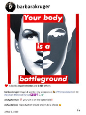 Barbara Kruger on Instagram by Laurence de Valmy