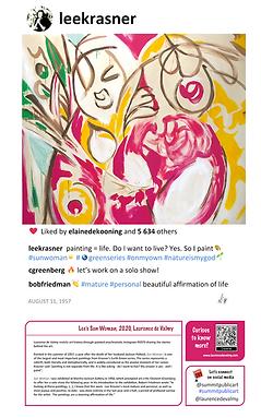 Lee Krasner Sun Woman I Summit Public Art Laurence de Valmy