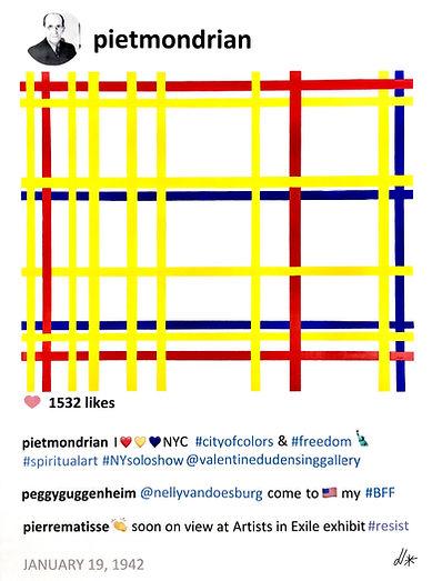 2018 Mondrian and NY 40 x 30 Laurence de