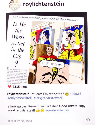 Roy Lichtenstein in POST series by Laurence de Valmy