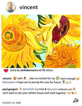2019 Vincent sunflowers 14x11  L de Valm