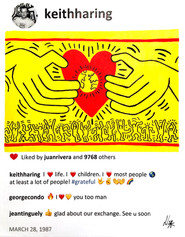 2020 Haring loves life 14 x11 Laurence d