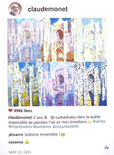 Claude Monet in POST series by Laurence de Valmy