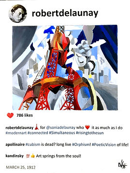 2019 Robert and the red eiffel tower 14x