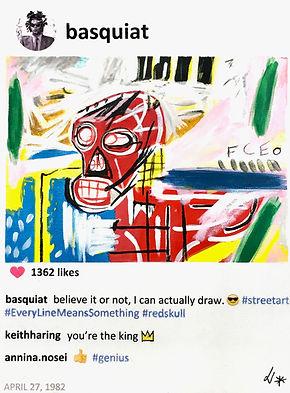 Jean Michel Basquiat in POST series by Laurence de Valmy