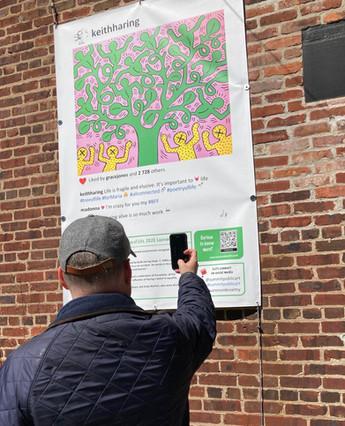 Laurence de Valmy - Keith Haring Tree of Life Summit Public Art Interactive Installation