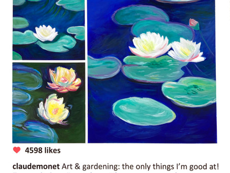 How many water lilies paintings did Claude Monet create?