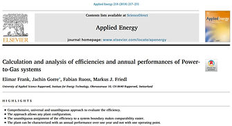 Calculation and analysis of efficiencies and annual performances of Power-to-Gas systems
