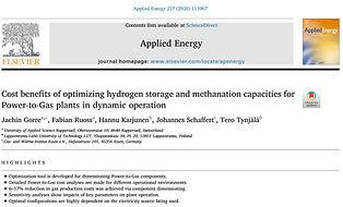 Cost benefits of optimizing hydrogen storage and methanation capacities for Power-to-Gas plants in dynamic operation