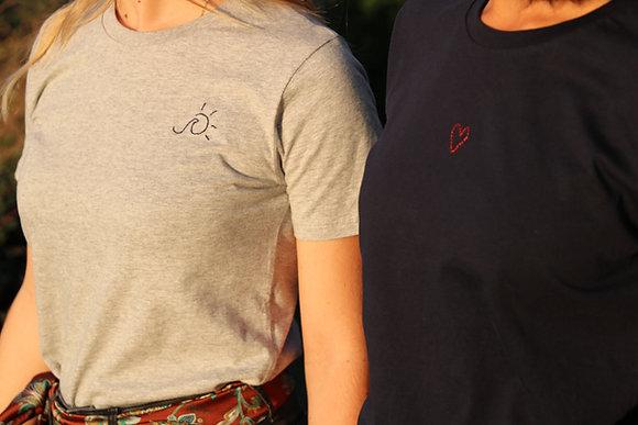 Tee-shirt brodé personnalisé unisexe