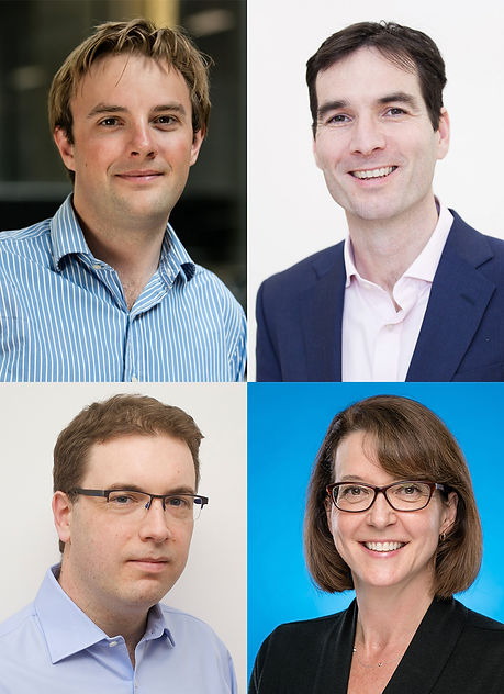 Montage of four INSIGHT staff headshots: Cian Hughes, Alastair Denniston, Pearse Keane, Jill Hopkins