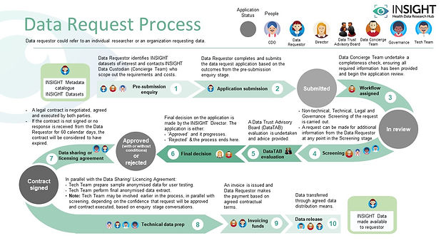 INSIGHT Data Request Process Diagram, which is available as a PDF