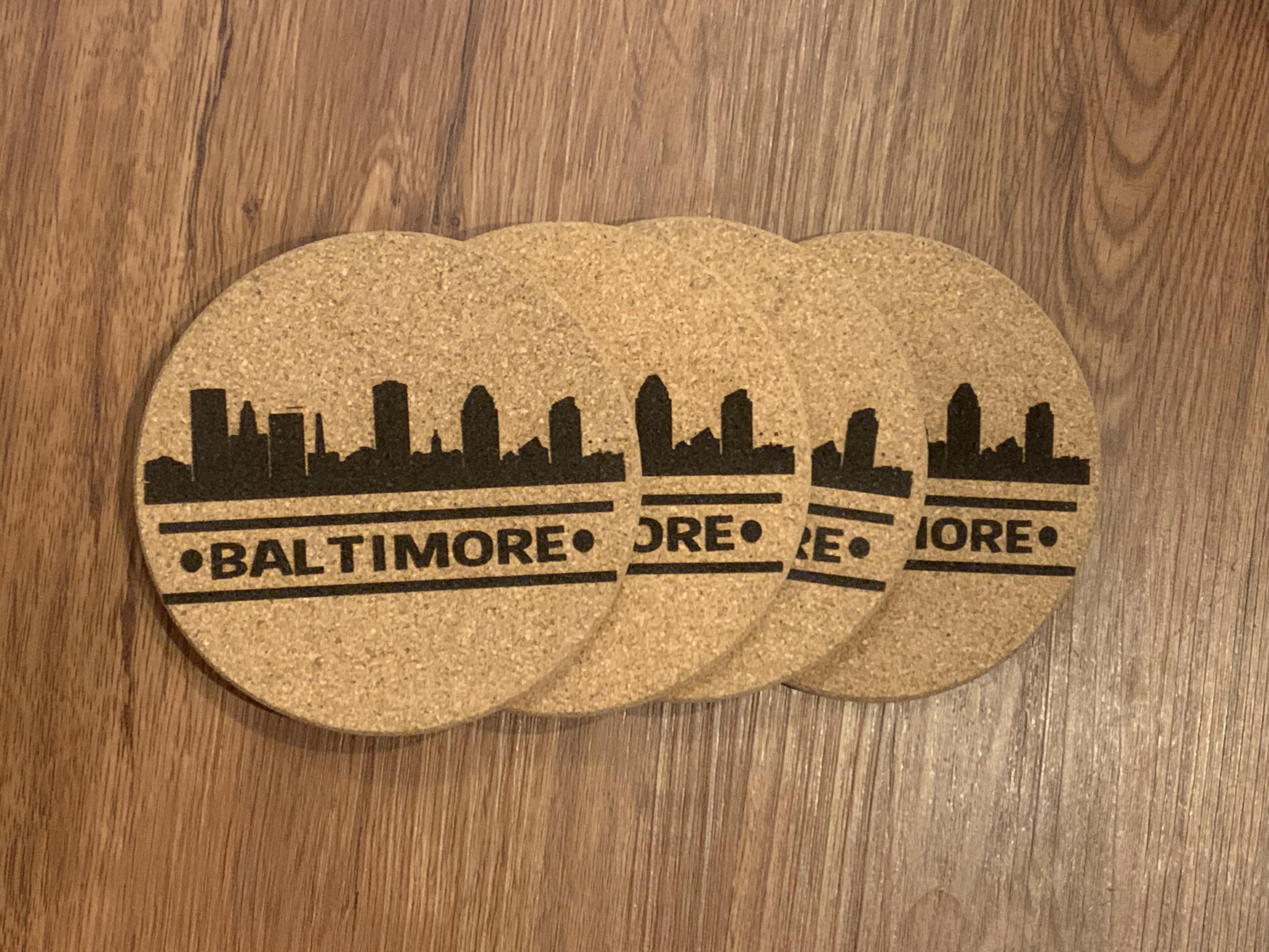 Coasters-Baltimore Skyline Round