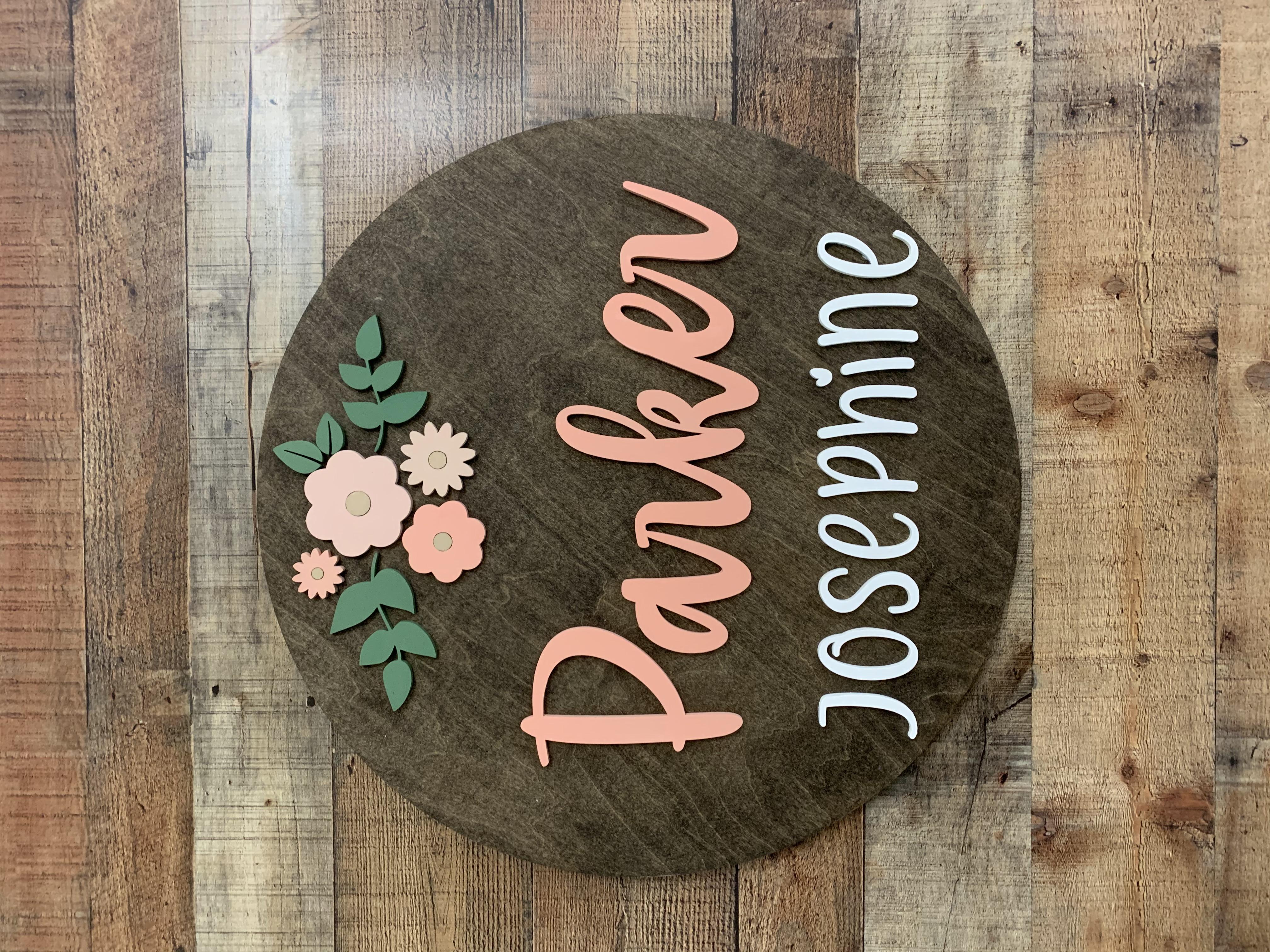 Round Name Sign-Parker Josephine