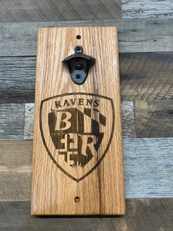 Bottle Opener-Ravens Shield