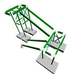 Aluminium staircase design