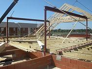 Steelwork timber frame design