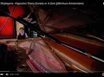 N.Kapustin, Piano Sonata nr. 6 live at Bimhuis Amsterdam / Vrije Geluiden