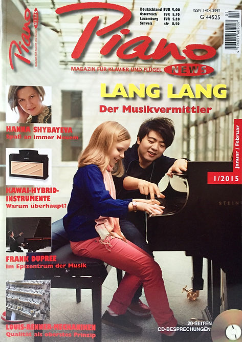 Interview in the German magazine Piano News