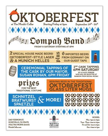 Oktoberfest flyer for brewery