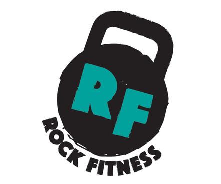 Rock Fitness gym logo