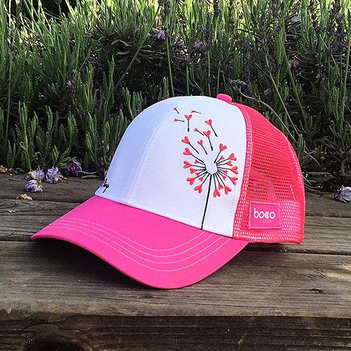 pink flower trucker