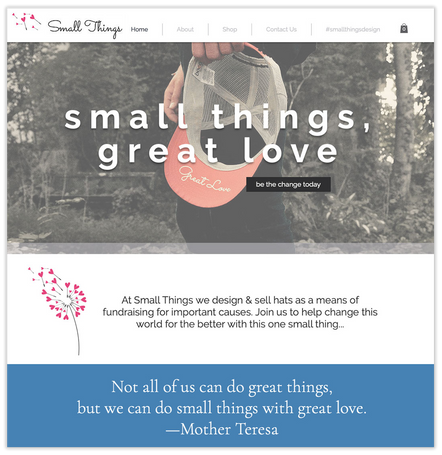 small things website