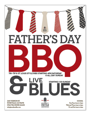 Father's Day flyer for brewery